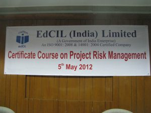 Certificate Course on Project Risk Management