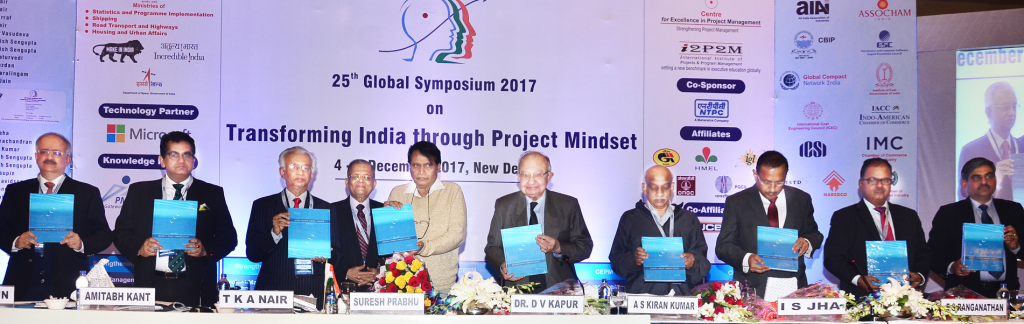The book titled 'Building a Project Oriented Society' authored by Ruchira Jain was released by Suresh Prabhu, Minister of Commerce & Industry