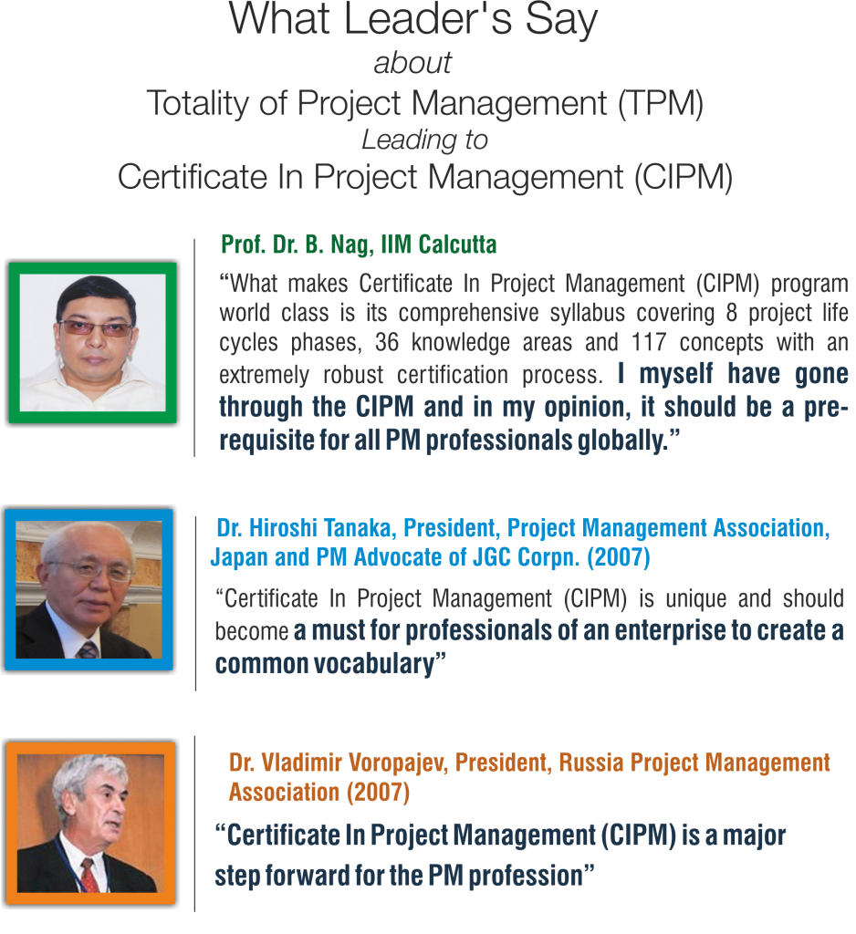 Certificate In Project Management Cipm Cepm