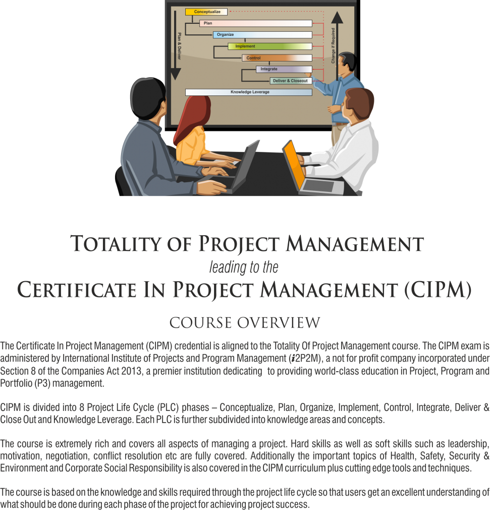 Totality of Project Management leading to the Certificate In Project Management (CIPM)