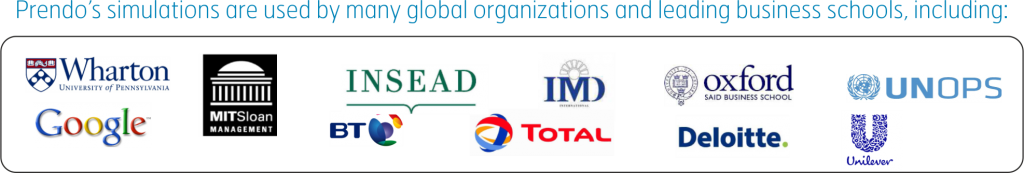 Prendo's simulations are used by many global organizations and leading business schools, including:
