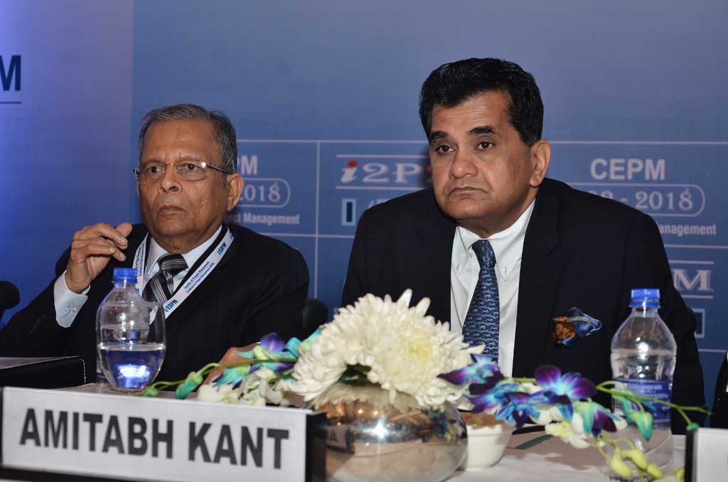 Adesh Jain, Director Incharge, CEPM & Amitabh Kant, CEO, Niti Aayog - 26th Global Symposium 2018