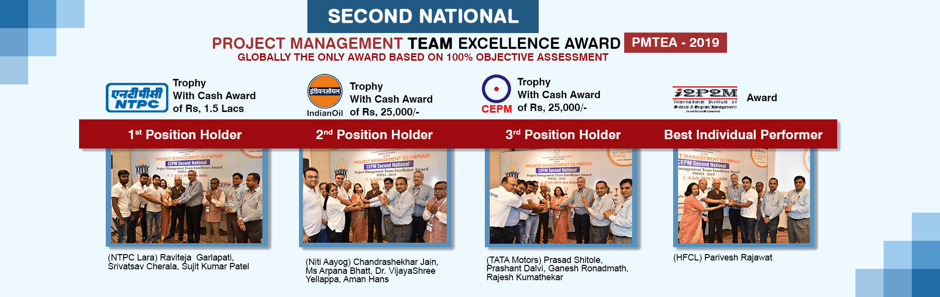 2nd National: Project Management Team Excellence Award PMTEA 2019 Winners