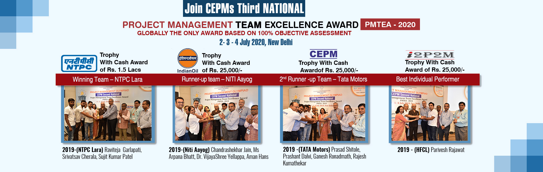 3rd National: Project Management Team Excellence Award PMTEA 2020